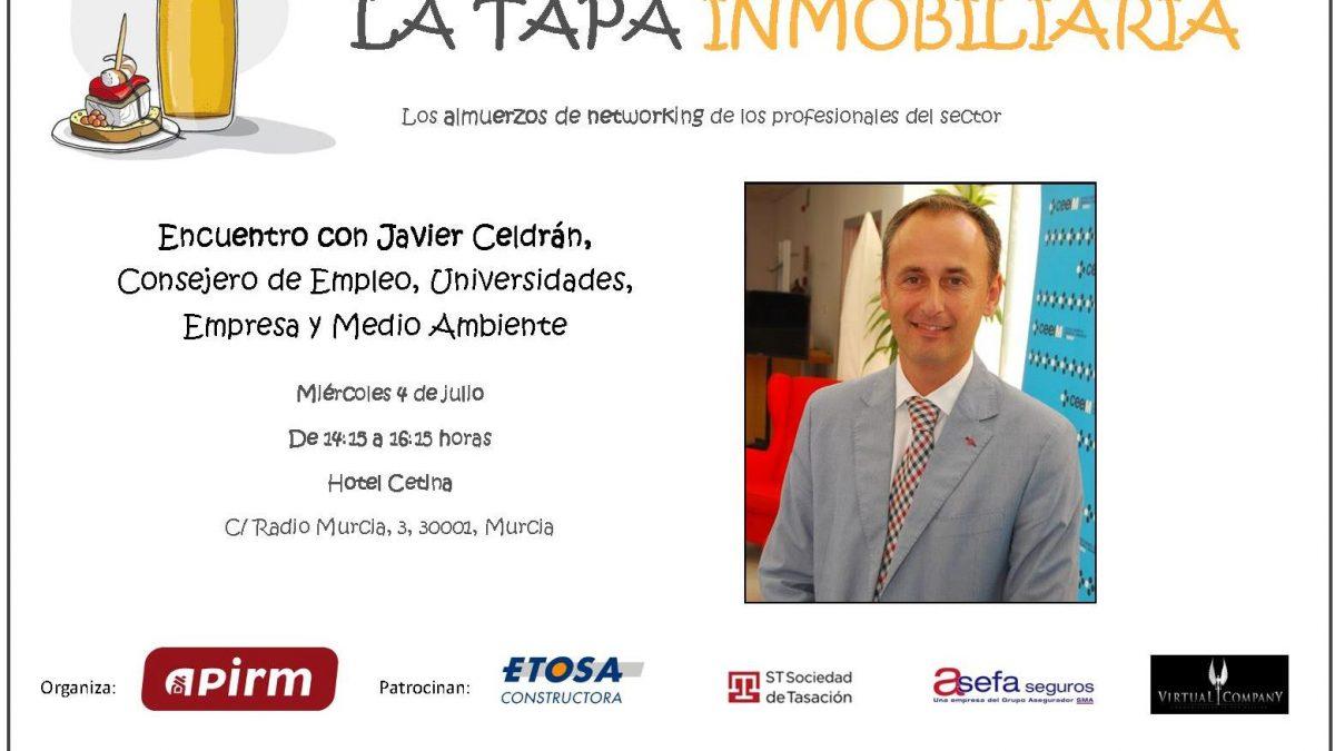 Encuentro de la TAPA INMOBILIARIA con Javier Celdrán, Consejero de Medio Ambiente