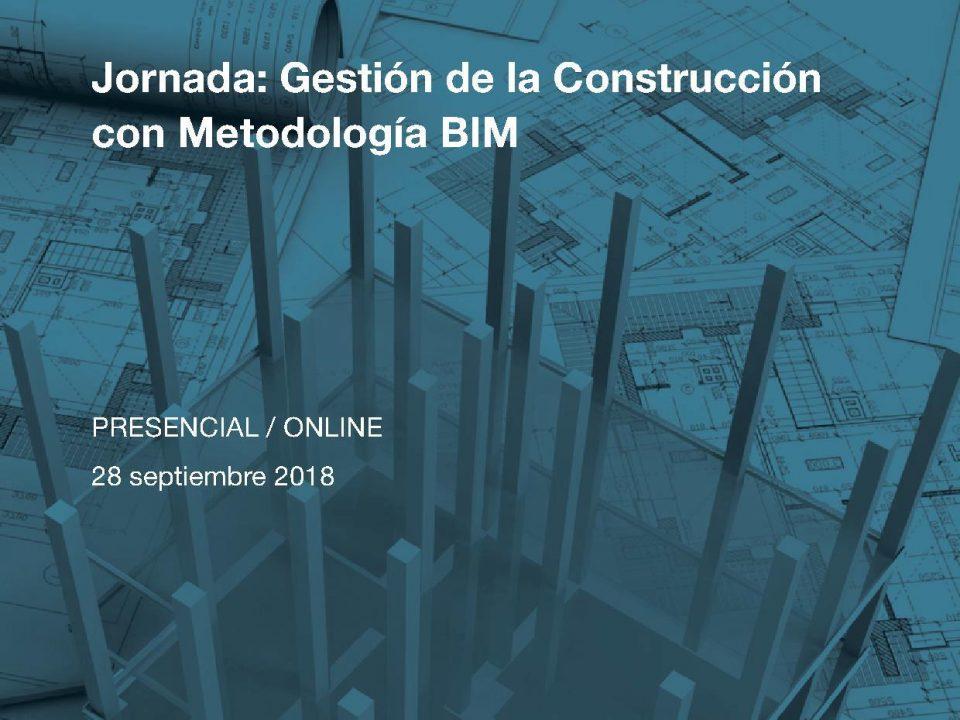 Jornada Gestión de la Construcción con Metodología BIM