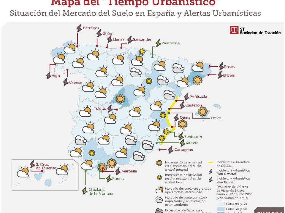 Sociedad de Tasación publica la nueva edición del Mapa del Tiempo Urbanístico