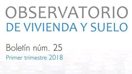 Informe del Observatorio de Vivienda y Suelo. Primer trimestre de 2018