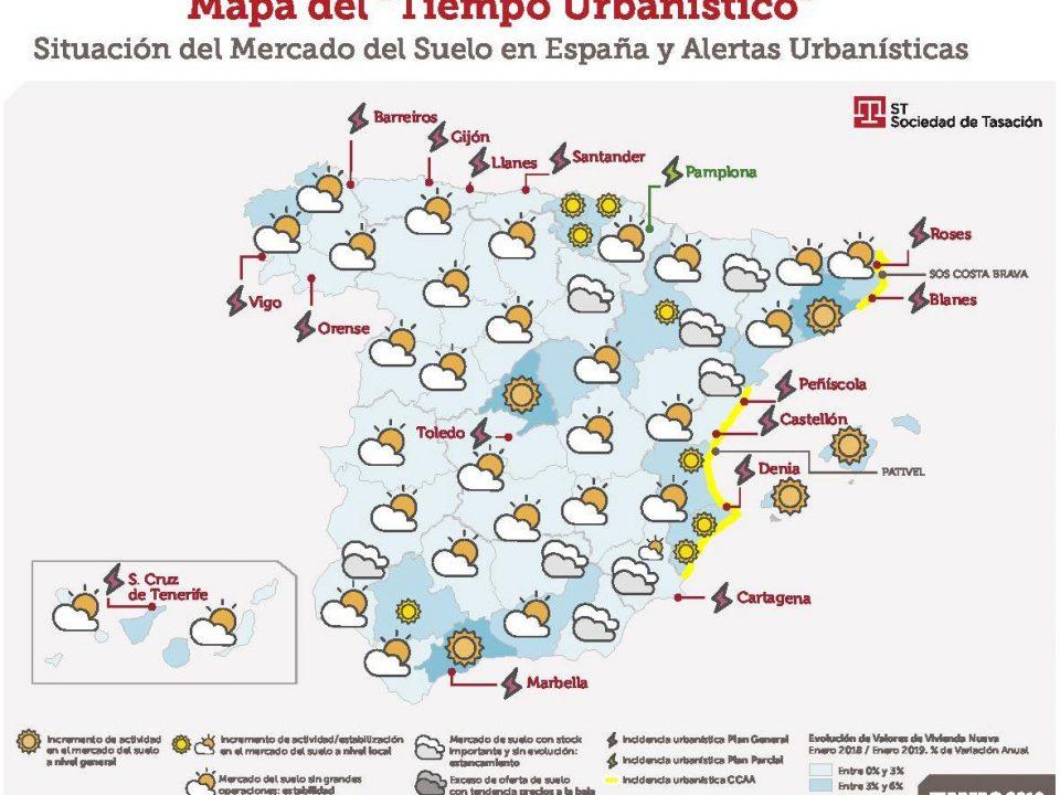 Mapa del tiempo urbanístico de Sociedad de Tasación