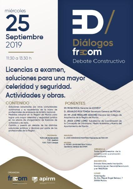 """Próxima edición de Diálogos FRECOM: """"Licencias a examen"""""""