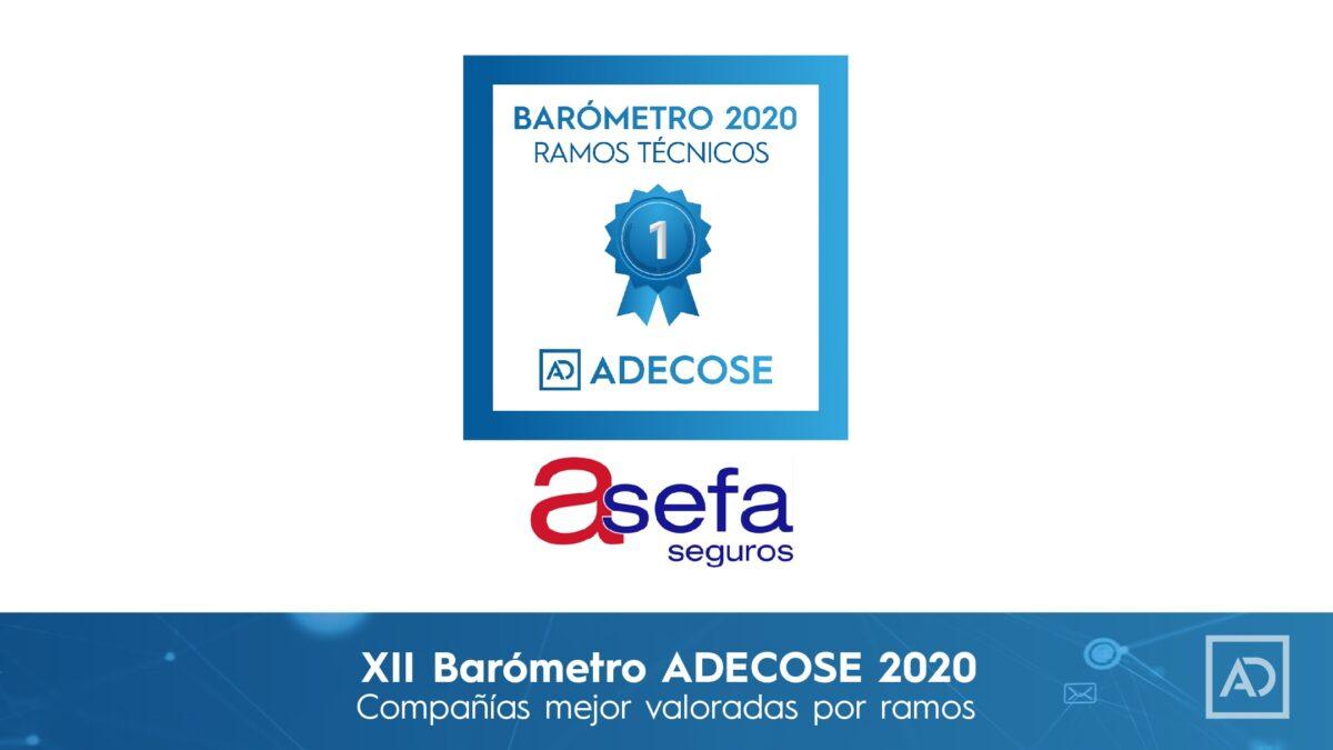 ASEFA, compañía mejor valorada en Ramos Técnicos por el barómetro ADECOSE 2020
