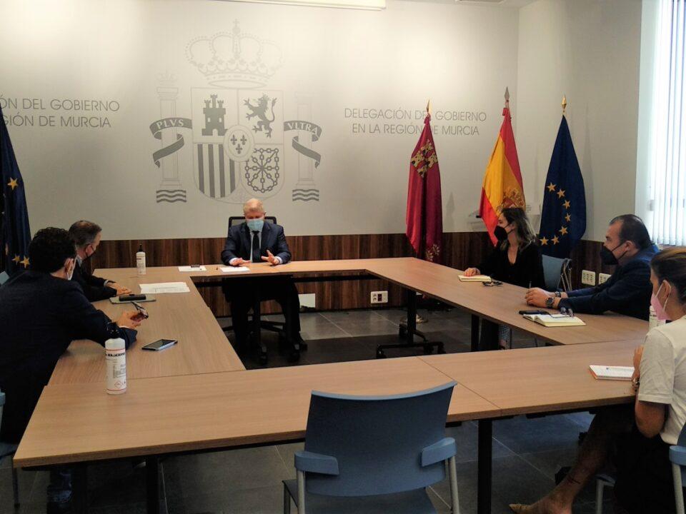 APIRM se reúne con el Delegado del Gobierno de la Región de Murcia para tratar el tema de los visados de obra nueva